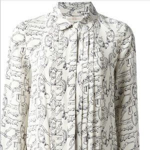 Tory Burch Key Print Silk dress